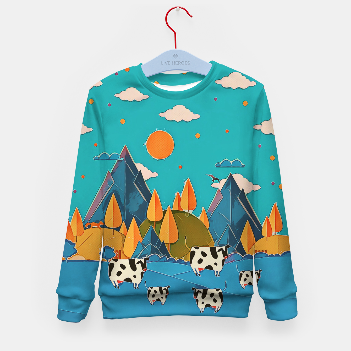 Image of Cows Kid's sweater - Live Heroes