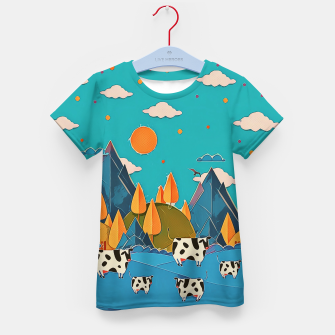 Thumbnail image of Cows Kid's t-shirt, Live Heroes