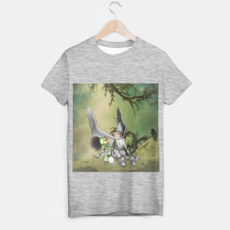 Thumbnail image of Cute bird with funny horse T-shirt regular, Live Heroes