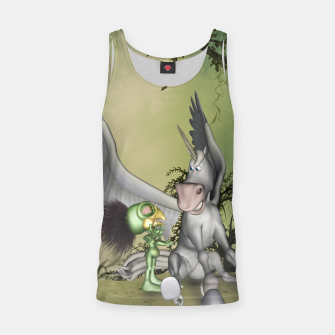 Miniaturka Cute bird with funny horse Tank Top, Live Heroes
