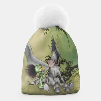 Thumbnail image of Cute bird with funny horse Beanie, Live Heroes