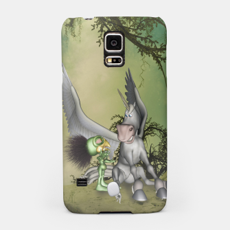 Thumbnail image of Cute bird with funny horse Samsung Case, Live Heroes