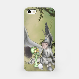 Thumbnail image of Cute bird with funny horse iPhone Case, Live Heroes