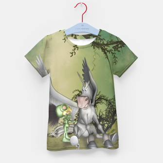 Thumbnail image of Cute bird with funny horse Kid's t-shirt, Live Heroes