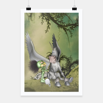 Thumbnail image of Cute bird with funny horse Poster, Live Heroes