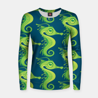 Thumbnail image of Leafy Sea Dragon Seahorse Pattern Women sweater, Live Heroes