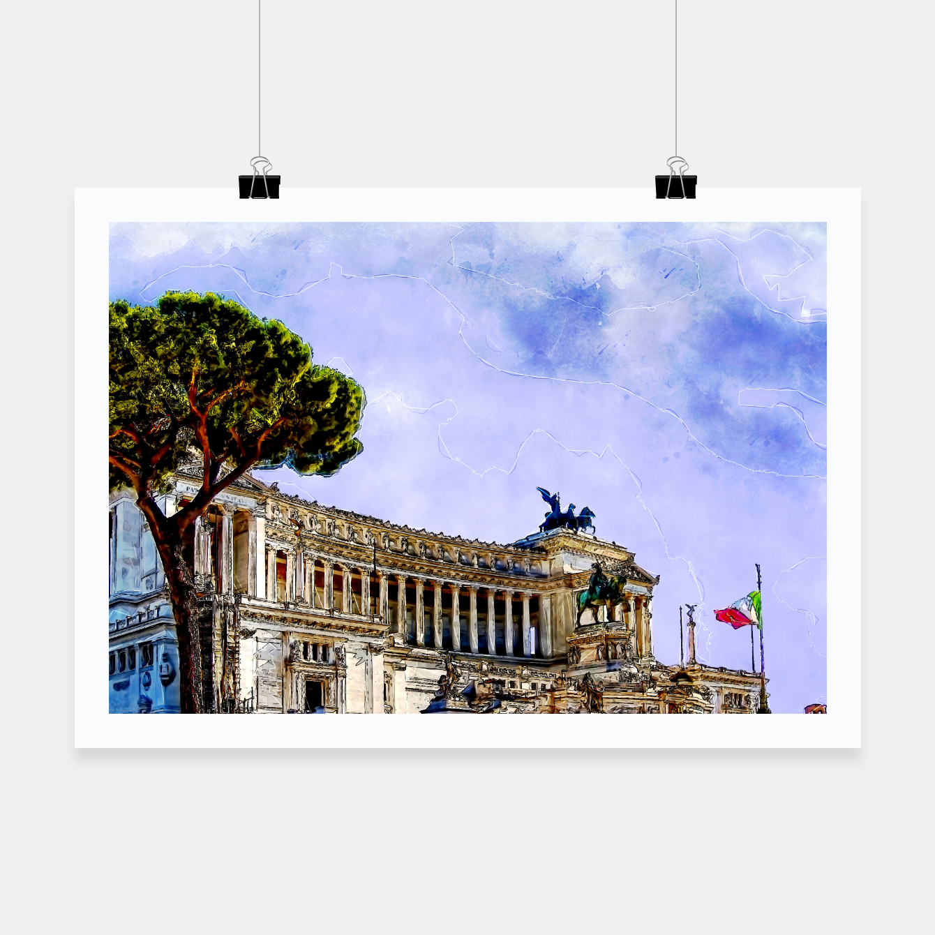 Image of Rome art #rome #italy Plakat - Live Heroes
