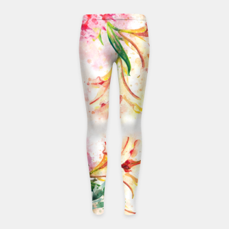 Thumbnail image of Peony Floral Girl's leggings, Live Heroes