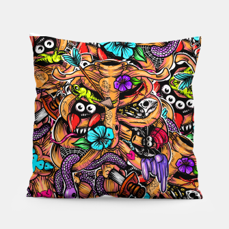 Thumbnail image of Doodle Bones Pillow, Live Heroes