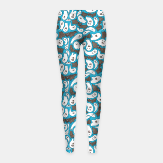Miniatur Ghosts and Bats – Girl's leggings, Live Heroes