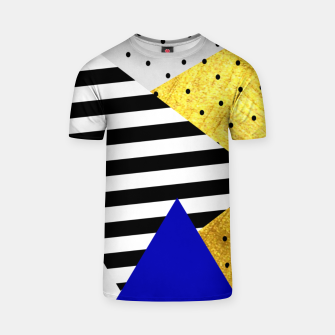 Thumbnail image of Fall Abstract Blue T-shirt, Live Heroes