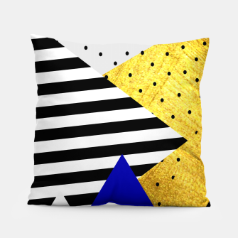 Thumbnail image of Fall Abstract Blue Pillow, Live Heroes