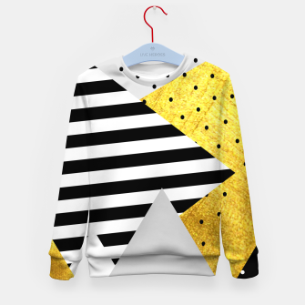 Thumbnail image of Fall Abstract Grey Kid's sweater, Live Heroes