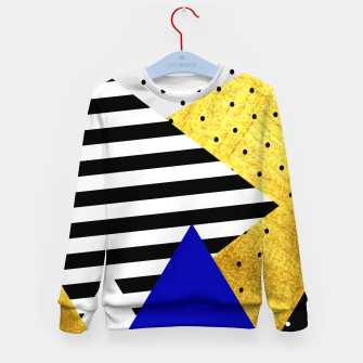 Thumbnail image of Fall Abstract Blue Kid's sweater, Live Heroes