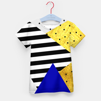 Thumbnail image of Fall Abstract Blue Kid's t-shirt, Live Heroes