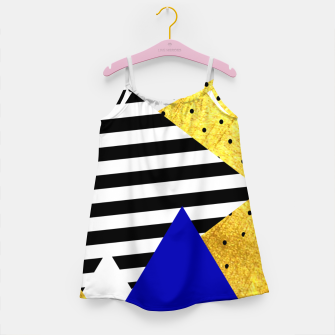 Thumbnail image of Fall Abstract Blue Girl's dress, Live Heroes