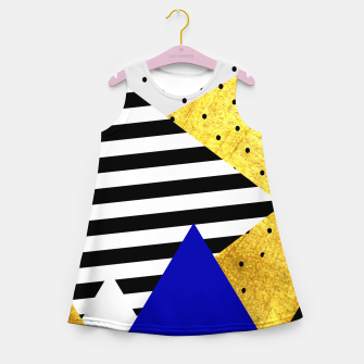 Thumbnail image of Fall Abstract Blue Girl's summer dress, Live Heroes