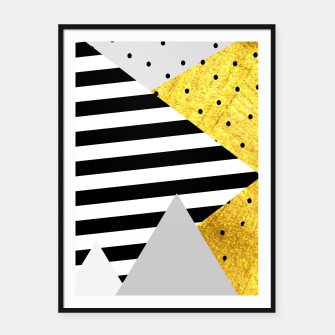 Thumbnail image of Fall Abstract Grey Framed poster, Live Heroes