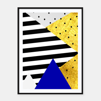 Thumbnail image of Fall Abstract Blue Framed poster, Live Heroes