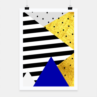 Thumbnail image of Fall Abstract Blue Poster, Live Heroes