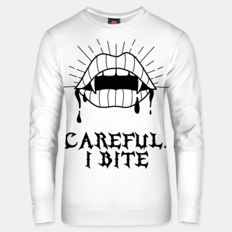 Thumbnail image of CAREFUL I BITE Sudadera unisex, Live Heroes