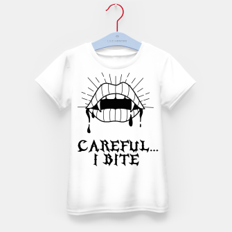 Thumbnail image of CAREFUL I BITE Camiseta para niños, Live Heroes