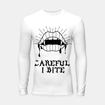 Thumbnail image of CAREFUL I BITE Longsleeve rashguard, Live Heroes