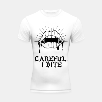 Thumbnail image of CAREFUL I BITE Shortsleeve rashguard, Live Heroes