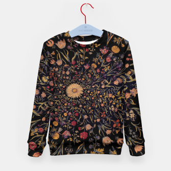 Thumbnail image of Medieval Flowers on Black Kid's sweater, Live Heroes