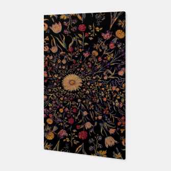 Thumbnail image of Medieval Flowers on Black Canvas, Live Heroes