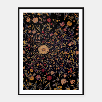 Thumbnail image of Medieval Flowers on Black Framed poster, Live Heroes