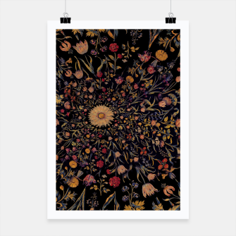 Thumbnail image of Medieval Flowers on Black Poster, Live Heroes