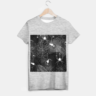 Thumbnail image of Black and White Spider Webs T-shirt regular, Live Heroes