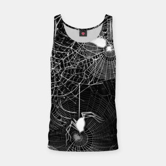 Thumbnail image of Black and White Spider Webs Tank Top, Live Heroes