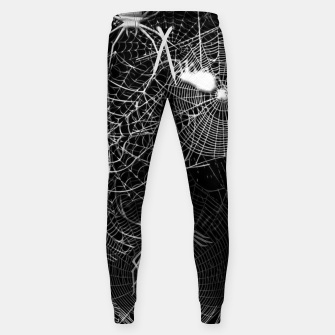 Thumbnail image of Black and White Spider Webs Sweatpants, Live Heroes