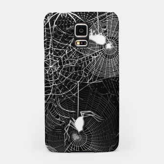 Thumbnail image of Black and White Spider Webs Samsung Case, Live Heroes