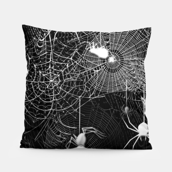 Thumbnail image of Black and White Spider Webs Pillow, Live Heroes