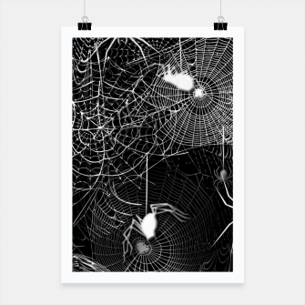 Thumbnail image of Black and White Spider Webs Poster, Live Heroes