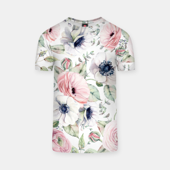 Thumbnail image of FLOWERS WATERCOLOR 29 T-shirt, Live Heroes