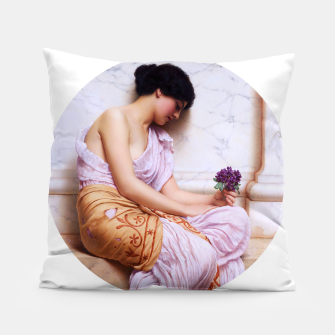 Thumbnail image of Violets, Sweet Violets c1908 Pillow, Live Heroes