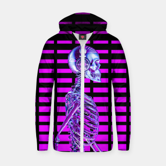 Thumbnail image of Eternal Disco Neon Skull Zip up hoodie, Live Heroes