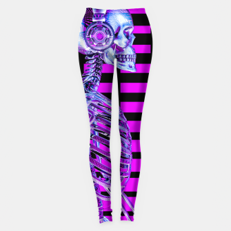 Thumbnail image of Eternal Disco Neon Skull Leggings, Live Heroes