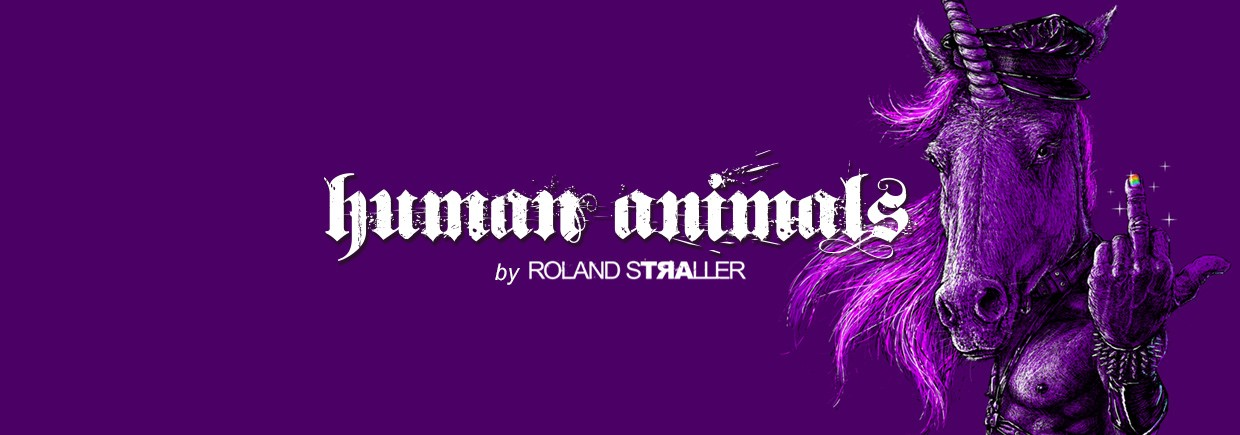 HUMAN ANIMALS by Roland Straller background image, Live Heroes