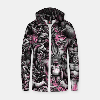 Thumbnail image of BLOODY HELL! (go vegan) Zip up hoodie, Live Heroes
