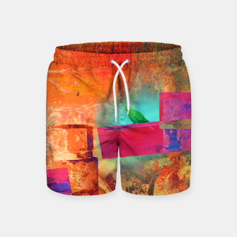 Thumbnail image of Green Bird  Swim Shorts, Live Heroes