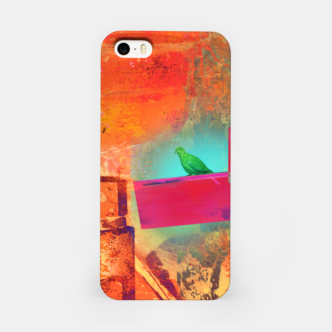 Image of Green Bird  iPhone Case - Live Heroes