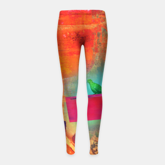 Green Bird  Girl's leggings thumbnail image