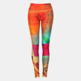 Thumbnail image of Green Bird  Leggings, Live Heroes