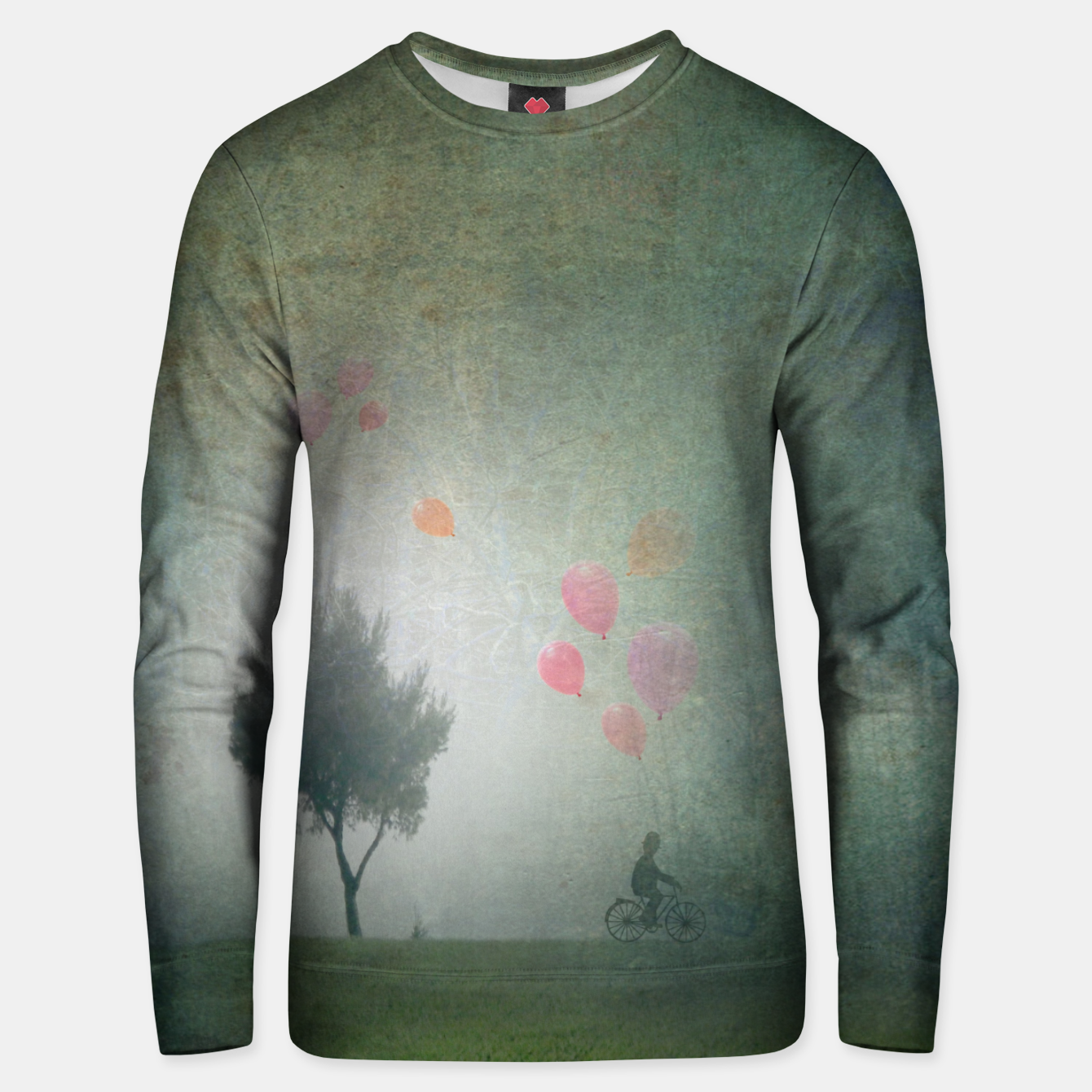 Image of The Loving Cyclist Unisex sweater - Live Heroes