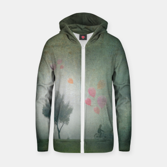 Thumbnail image of The Loving Cyclist Zip up hoodie, Live Heroes